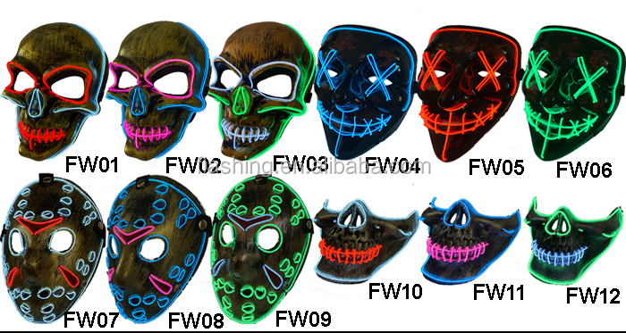 High quality el wire mask, EL Light up Mask,LED Wire Mask
