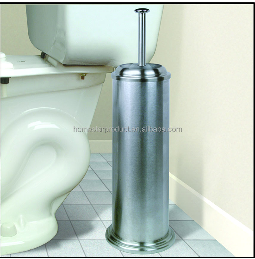 Stainless steel toilet plunger pump brushed finish
