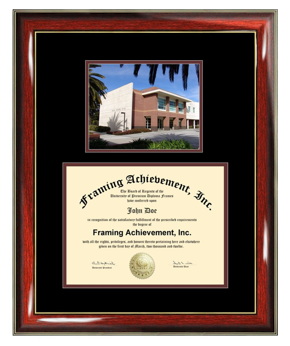 California Lutheran University Diploma Frame - University Graduation Degree Frame - Matted CLU College Campus Photo Graduation Gift Certificate Plaque Diploma Framing Collegiate