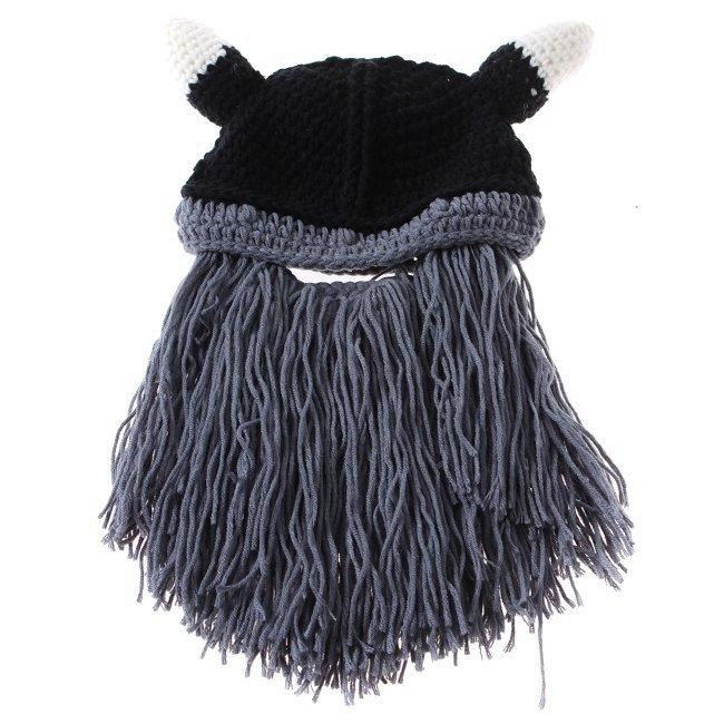 3bf11c1a80a75 Get Quotations · Novelty Children Handmade Crochet Cartoon Vikings Horn Hat  Bearded Face Mask Xmas horn Child Hat ic870771