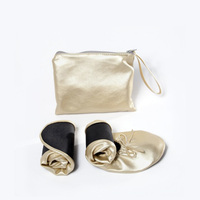 OEM Colorful silver gold High Quality Lady Casual Ballerina Shoes Fold Flats