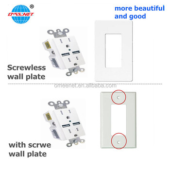 ETL List 15A 125V Tamper Resistant Home Use Bathroon Use USB Wall Socket
