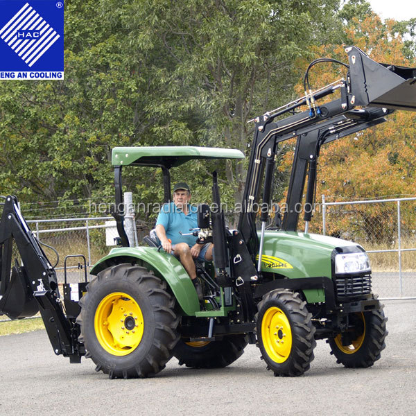 55hp 4wd Farm Tractor With Front End Loader And Backhoe