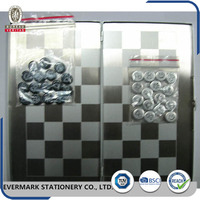 Aluminium Alloy International Game Chess Clock Chess Board Magnetic Wall Mounted Folding Magnetic Baseball Chess Game