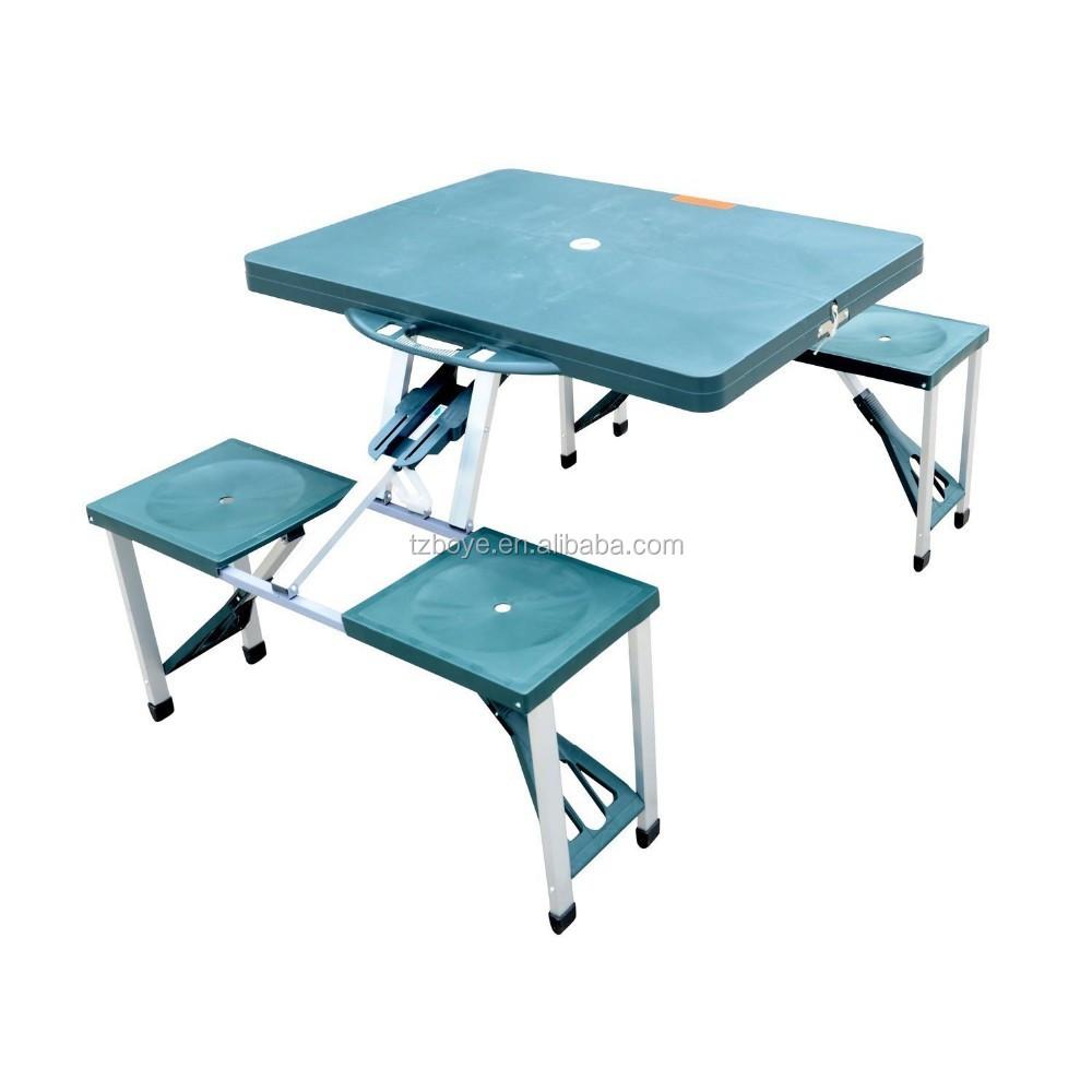 portable pliant camp en plein air valise table de pique nique avec 4 si ges table pliante id. Black Bedroom Furniture Sets. Home Design Ideas