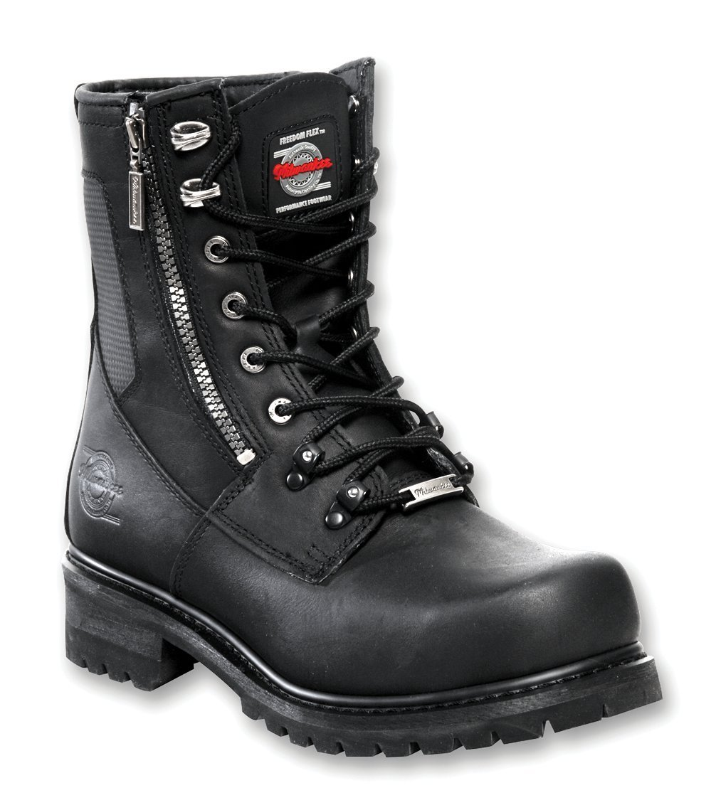 701c3b535362b Get Quotations · Milwaukee Motorcycle Clothing Company Trooper Leather  Women s Motorcycle Boots (Black