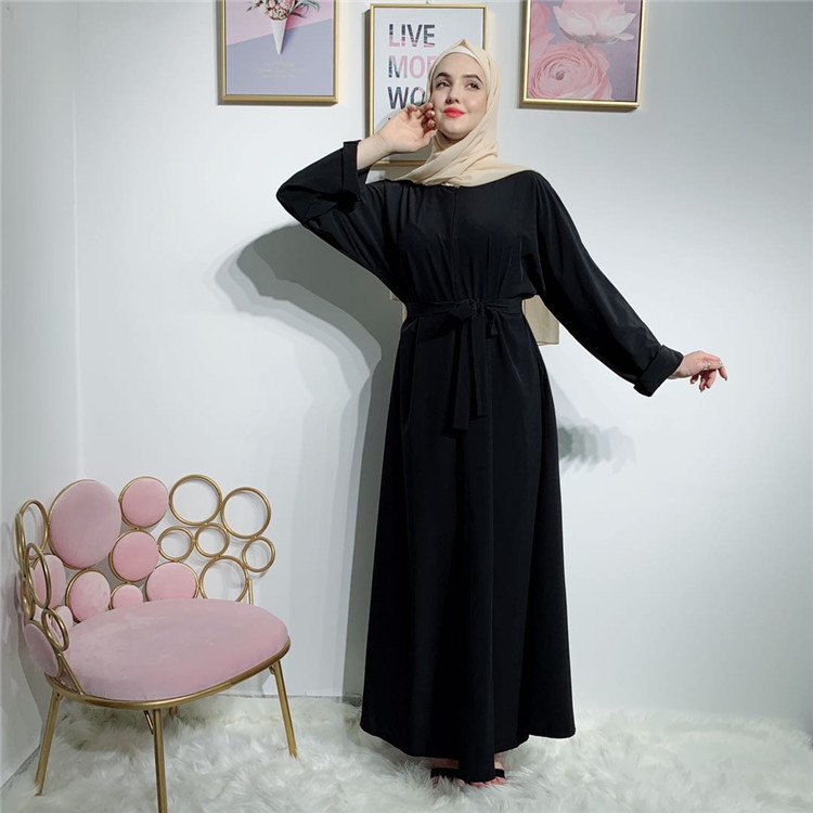 Hot Selling Long Sleeves Muslim Breastfeeding clothes Maxi Dress Abaya  for Women