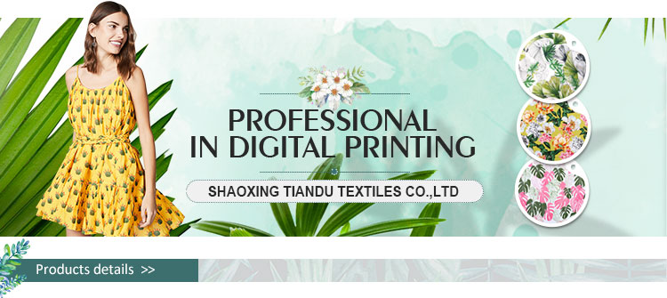 2019 new floral pattern digital print 100%  rayon garment fabric