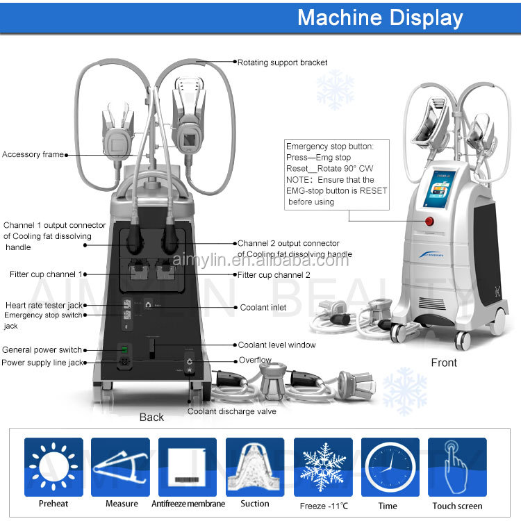 2018 the most popular 4 handles cryolipolysis machine