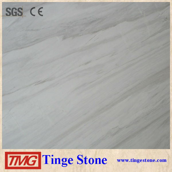 Hot Greece Volakas Marble White Marble With Black Veins