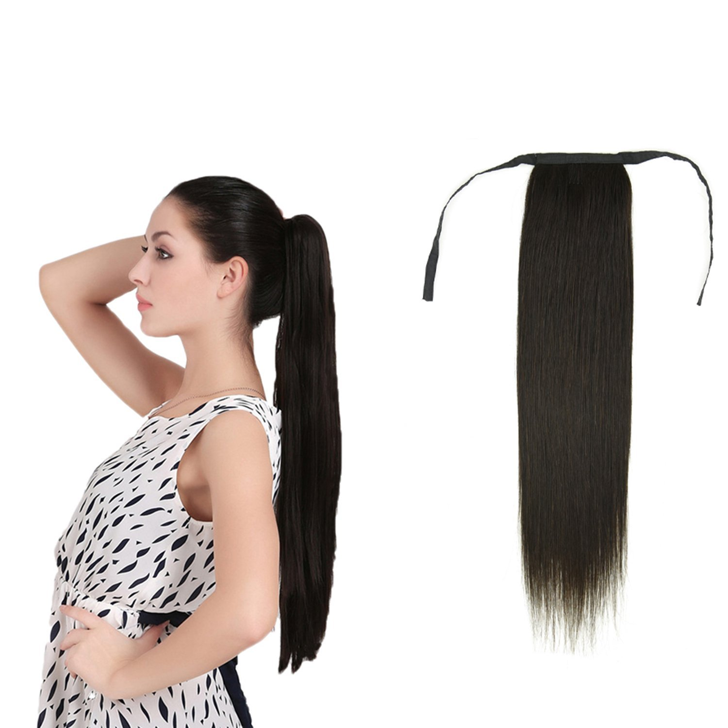 Buy 18 Wrap Around Ponytail Human Hair Extensions Hairpiece Long