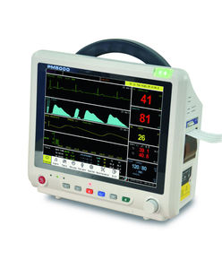 ECG+NIBP+SPO2+Temp+Resp Patient Monitor with Central Monitoring System