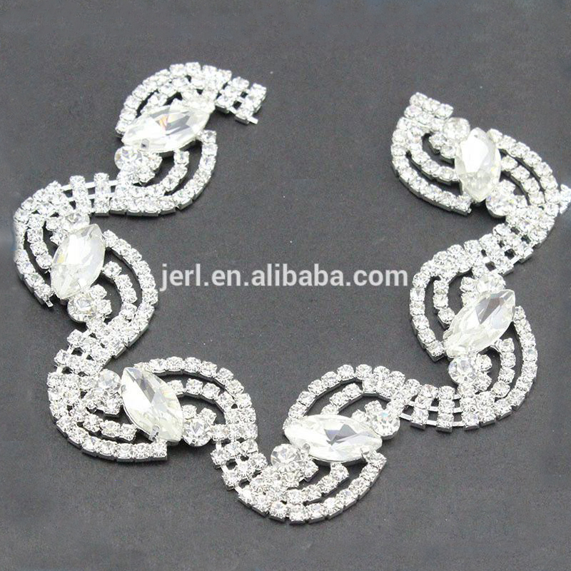 bridal gown wedding dress rhinestones chain