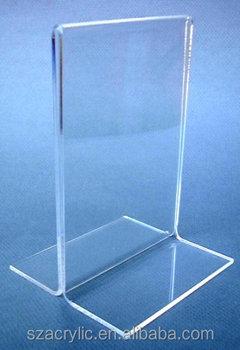 High Transparent Table Top Acrylic Menu Display Holder T
