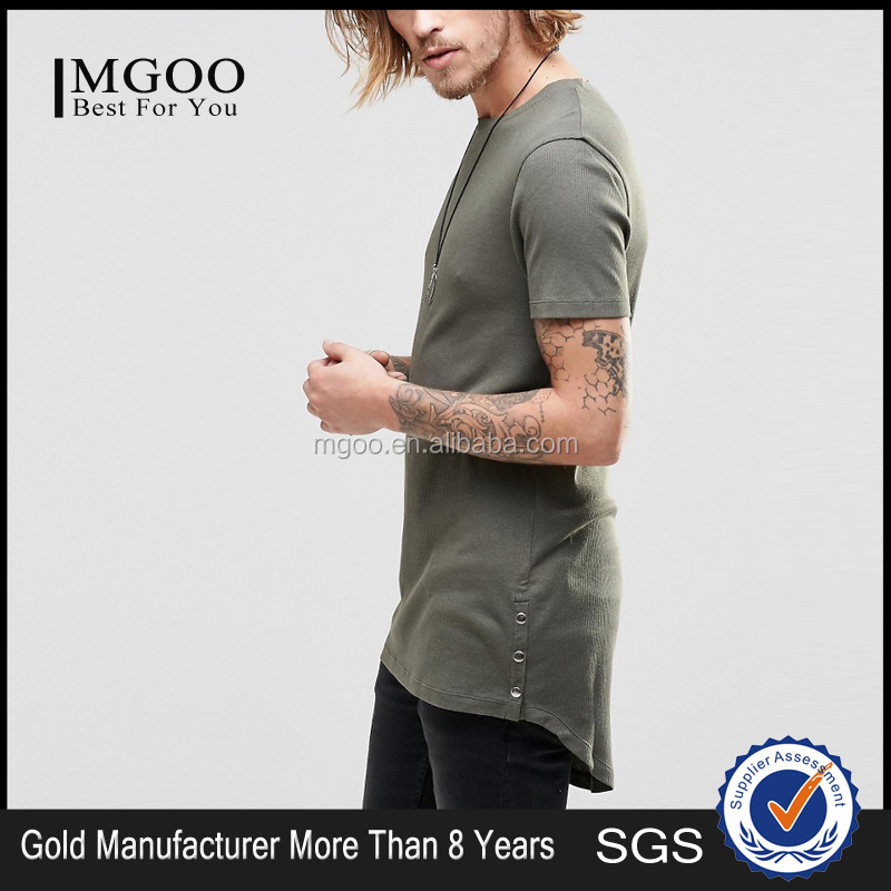 Plain elongated t shirts wholesale customized elongated t shirs