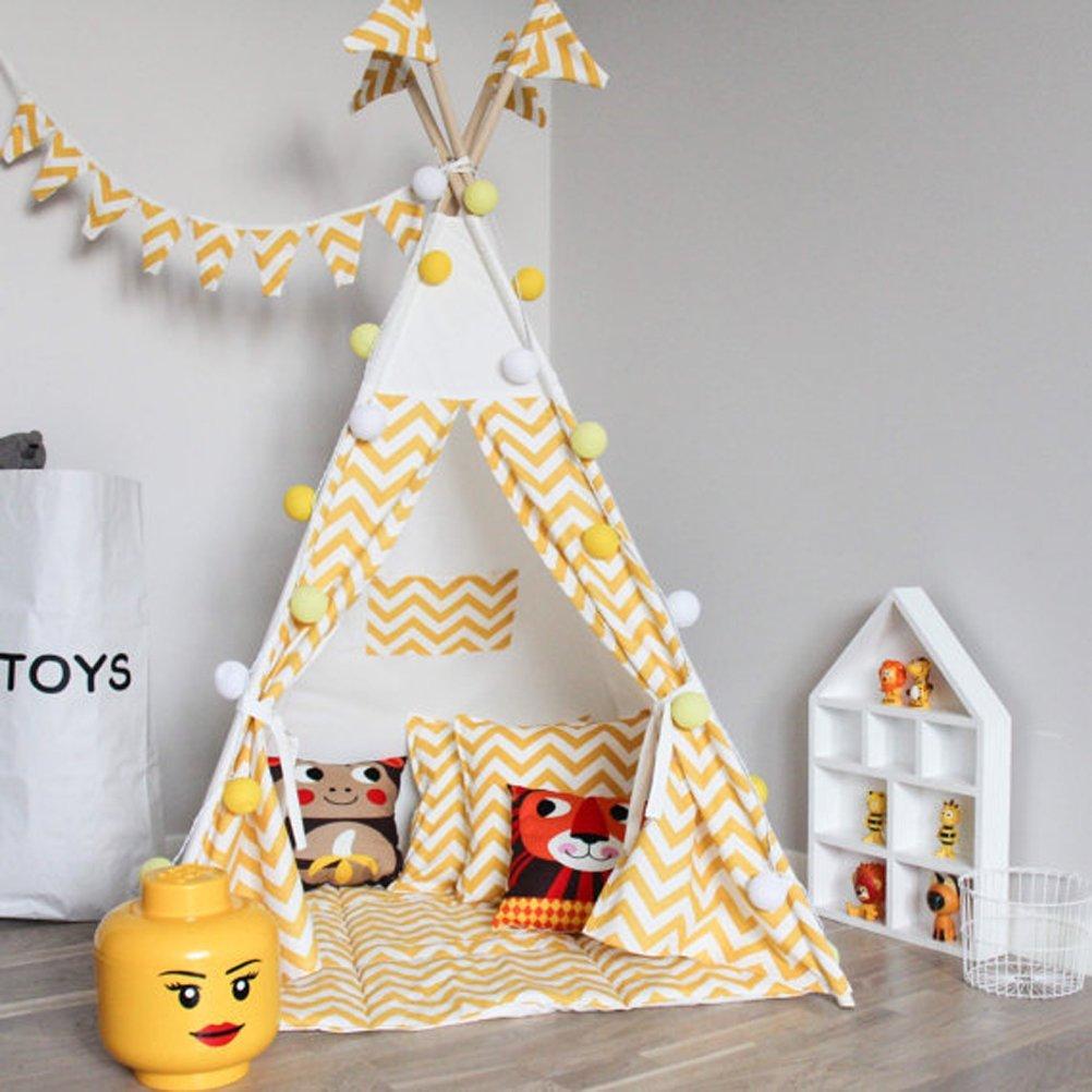 Get Quotations · Fessyc@yellow stripe Childrenu0027s Teepee Play tentchildrens teepeekids teepeebaby  sc 1 st  Alibaba.com & Cheap Play Teepee For Kids find Play Teepee For Kids deals on ...