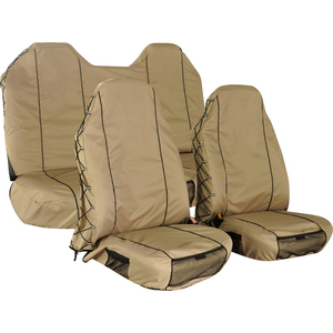 Auto Seat Cover Protector Oxford Unique Beige 4 Pieces Car Seat Cover