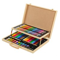 106pcs stationery gifts wooden box painting art set