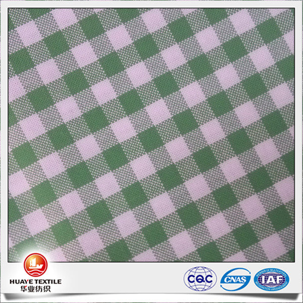 high quality yarn dyed green plaid 100% cotton oxford cloth fabric for woman
