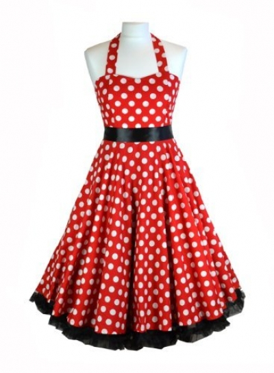 30431ff76680 Get Quotations · free shipping R1081 50s Red Polka Dot Rockabilly Dress  with Black Ribbon Bow hot sale pin