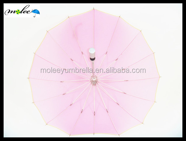 Love Rain Custom Shape Pink Umbrella