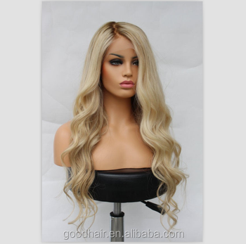 brown/blonde Ombre 2 Tone Lace Front Wig 100 Brazilian Virgin Remy Human Hair Body Wave Full Lace Wig