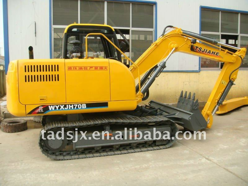 Chinese famous brand 7.5 ton mini/small rubber or steelcaterpillar excavating machine
