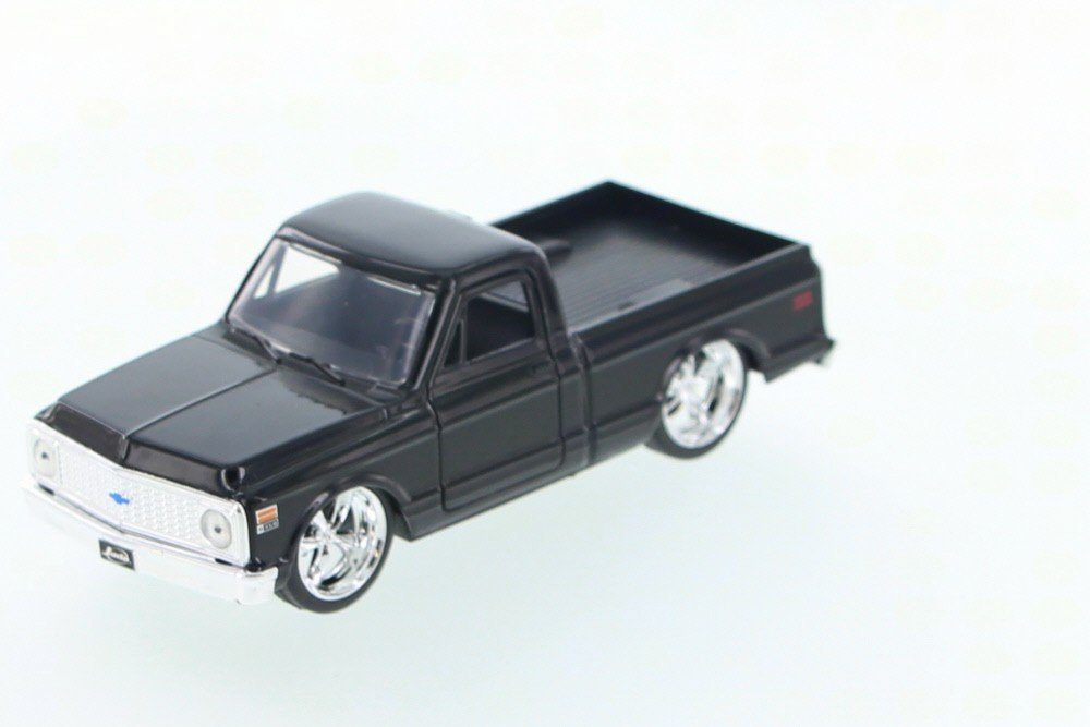 1972 Chevy Cheyenne Pickup Truck, Black - Jada Toys Just Trucks 97009 - 1/32 scale Diecast Model Toy Car (Brand New, but NO BOX)
