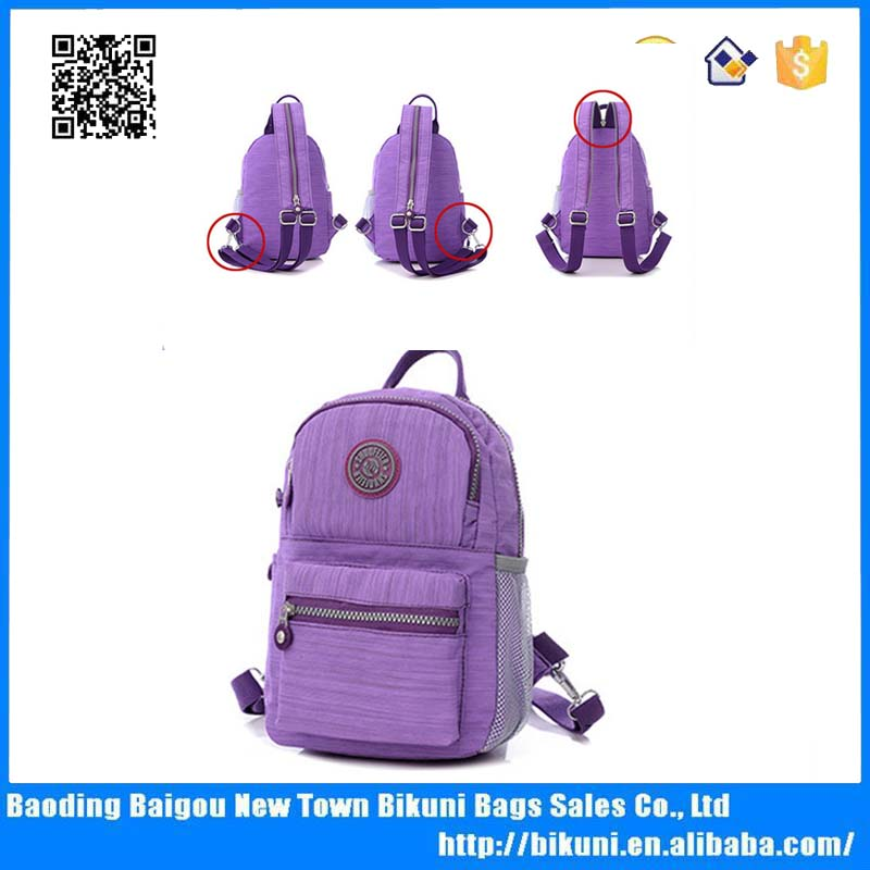 China products waterproof nylon girls school bag convert to a backpack from  a shoulder bag school 972827df2f51a