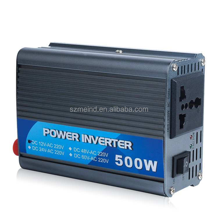 Factory selling 500w Power Inverter 12v dc to 220v ac car inverter, solar inverter
