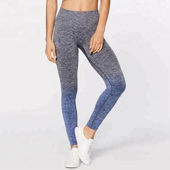 869480250f0c8e Ombre High Waist Fitness Yoga Leggings Seamless Gym Leggings ...