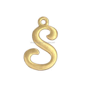 HUSURU Jewelry Wholesale gold plated mixed A-Z letter shaped alphabet s charms pendant
