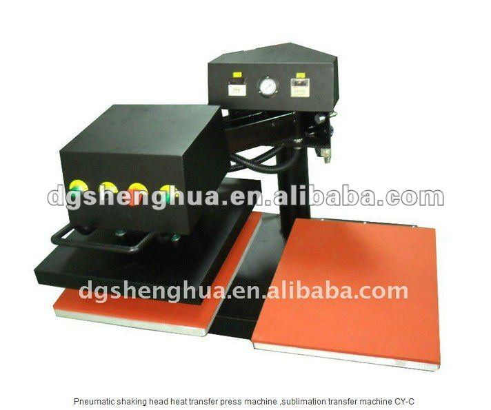 CE pneuamtic two stations swing-away heat transfer press machine sublimation printing