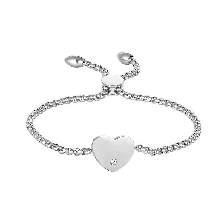 2731aceb5f53 Chino personalizada de acero inoxidable joyería de la pulsera del encanto del  corazón pulsera con circonita
