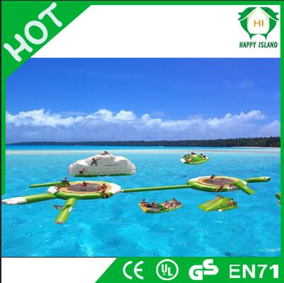 HI Lake Inflatables Water Games For Adults / Bouncia Aquapark Inflatable Water Park Equipment Price