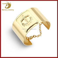 Stainless Steel Gold & Silver Nautical Anchor Bracelet Chain Cuff Bangle Viking Jewelry For Navy