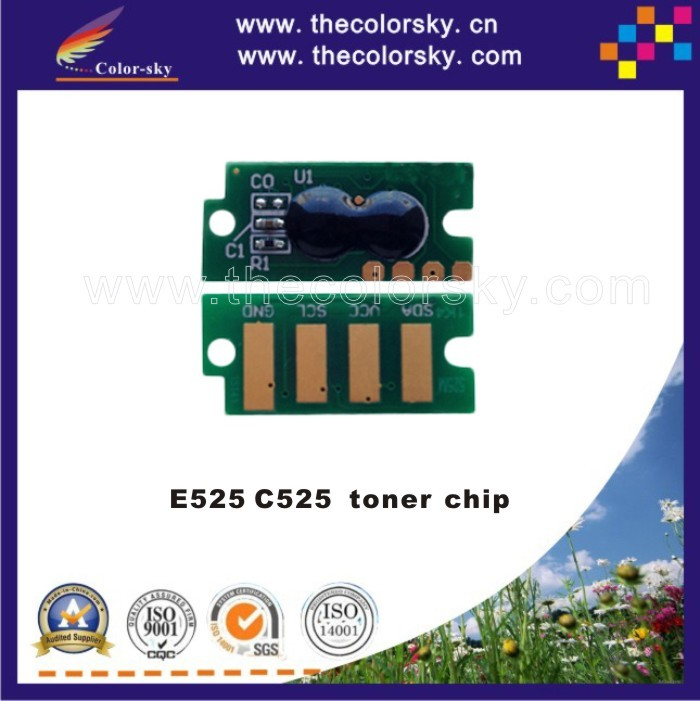 (TY-D525) toner cartridge reset chip for Dell E525 C525 C 525 593-BBJV G20VW CT202255 593-BBJW 3581G CT202256 kcmy 2K/1.4K
