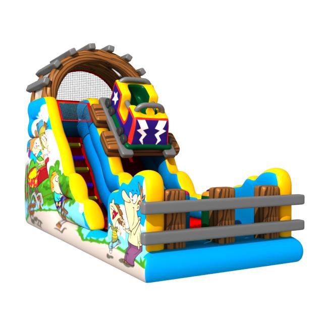 Gmif70915095 Kids Indoor Slide Inflatable Christmas Theme Slide ...