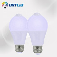 Lightweight 85-265V PIR Motion Human Sensor Bulb 12W Residential Lighting 2800k 6500k LED lamp