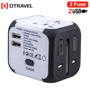 Universal Electrical Plug Adapter Travel Power Socket Converter Outlet All in One Worldwide Use for US/ UK/ EU/ AU