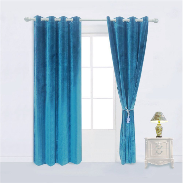 New design style  navy blue room darkening curtains latest polyester window curtain