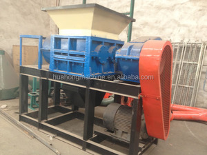 Double shaft shredder fo crushing wood/scrap metal/plastic/tyre crusher made in China