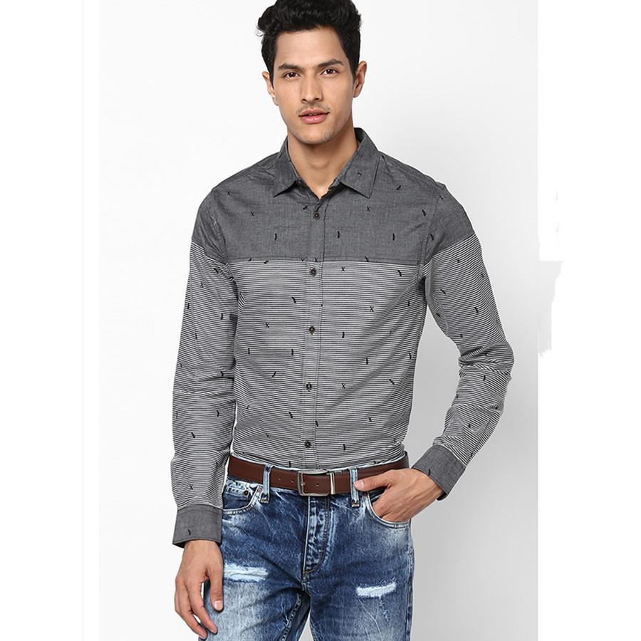 Casual Grey Shirt Dress Images