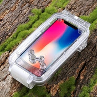 Factory Direct Price Newest PULUZ for iPhone X 40m/130ft Waterproof Diving Housing Photo Video Taking Underwater Cell Phone Case