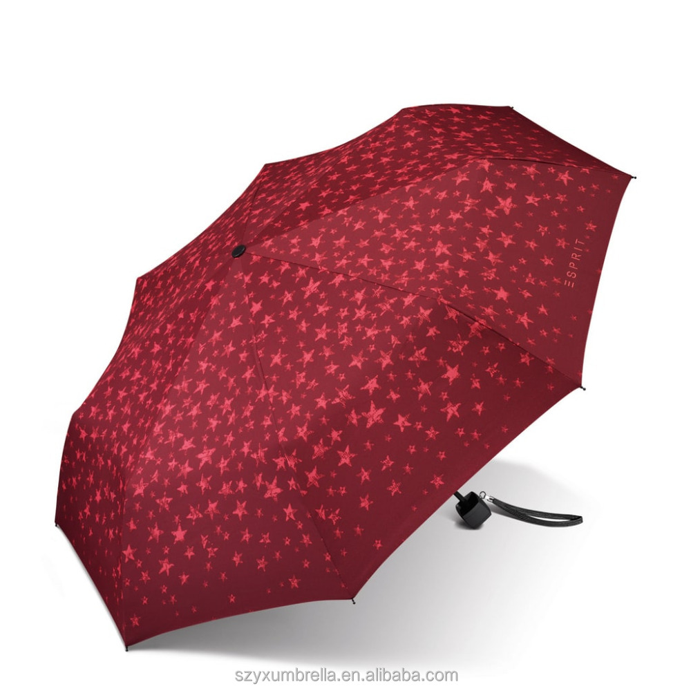 21inch full automatic windproof compact travel small folding umbrella
