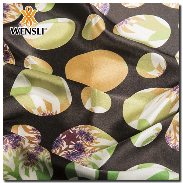 fabric silky Gold Supplier China Two Tone 100% Silk Scarf