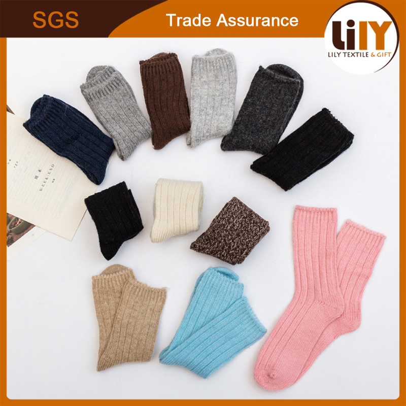 High Quality 80% Cotton Crew Ankle Winter Dress Long Socks