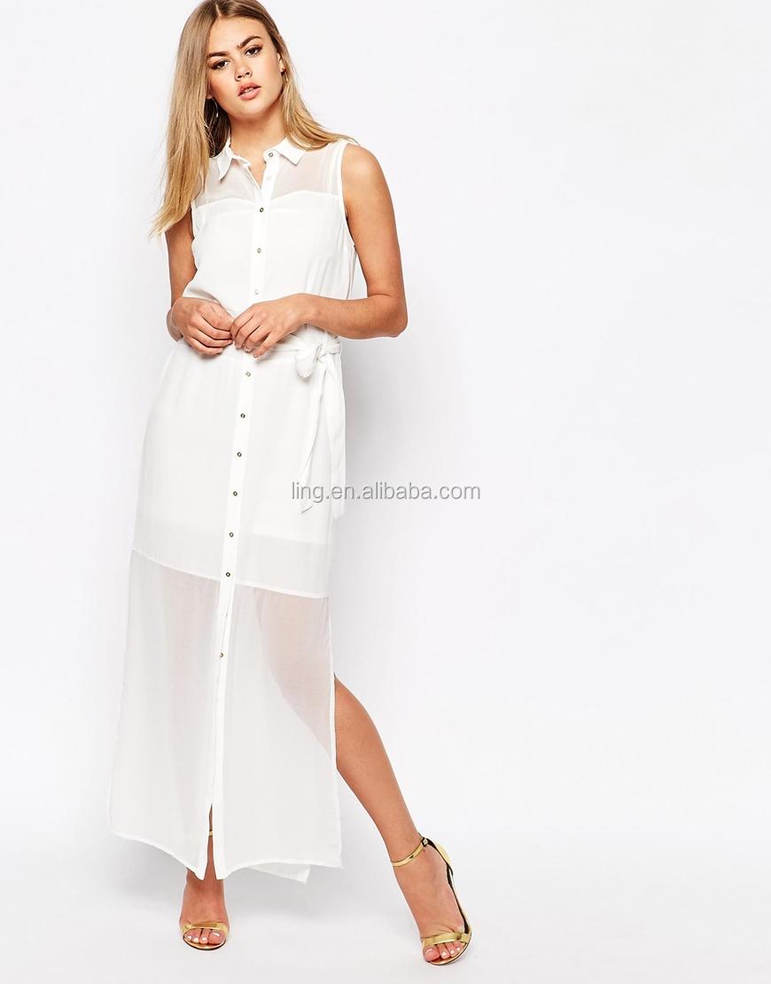 2015 Summer Fashion Sexy Women White Sleeveless Long Maxi Dress Shirt Buy Dress Shirtblank T Shirt Dressshirt Dress Product On Alibaba