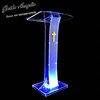GUIHEYUN Logo customized nice modern acrylic award speech podium with led lights Assembled