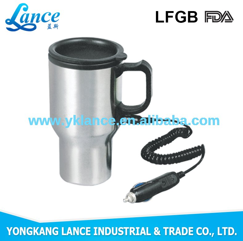 Up-market popular design bulk coffee Plug-in electric travel mugs